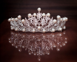 Royal crown for king or queen. Symbol of power and wealth
