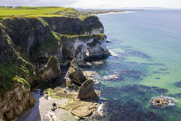 Views of the Causeway Coast in Northern Ireland, United Kingdom, from the Magheracross viewpoint