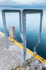 ladder handles into sea