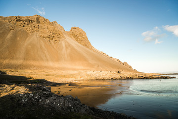 Stokksnes is a headland on the southeastern Icelandic coast, near Hofn and Hornafjördur.