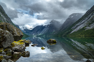 Türaufkleber Nordeuropa Noregian fjord
