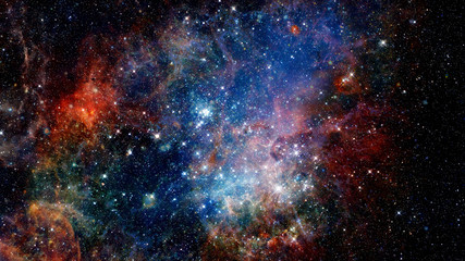 Colorful space nebula. Elements of this image furnished by NASA.