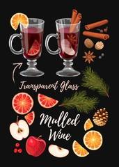 Set of mulled wine ingredients
