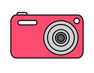 デジタルカメラ(赤)