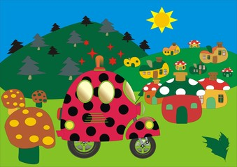 NEW SCOOTER animals - lady beetle