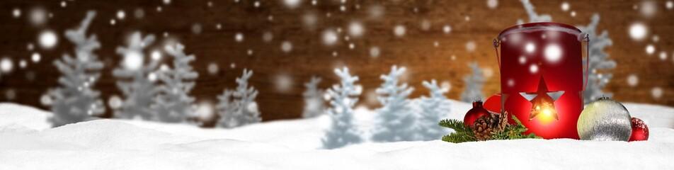 Weihnachten Banner Panorama Hintergrund