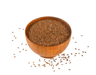 flaxseed isolated on white