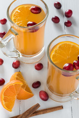 Hot Cranberry Apple Cider