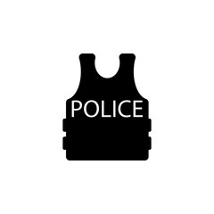 flak jacket police icon. Police element icon. Premium quality graphic design. Signs, outline symbols collection icon for websites, web design, mobile app, info graphics