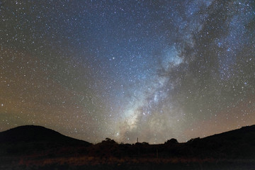 Hawaii Stars Scapes Galaxy Milky Way Nebula Big Island Night Landscape Background Scenic