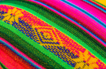 Traditional Bolivian, Peruvian, and Andean colored fabric