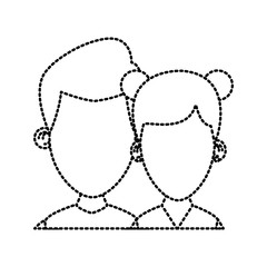 Couple of friends cartoon icon vector illustration graphic design