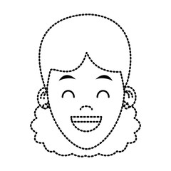 Woman smiling cartoon icon vector illustration graphic design