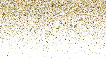 Golden grainy gradient texture. Retro halftone stippled background. Party gltter backdrop.