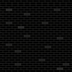 Black background with bricks. Vector illustration