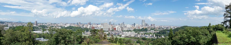 青葉城址の展望広場から見る仙台市街のイメージ