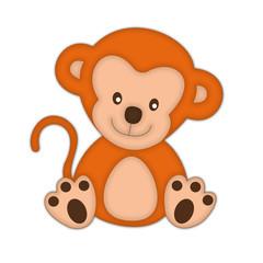 обезьяна рыжая