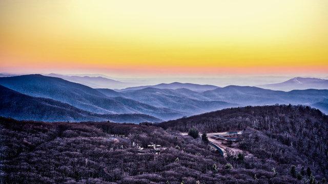 Skyland from The Summit of Stony Man at Sunset