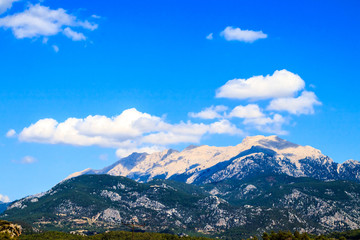 Snow-capped mountain view