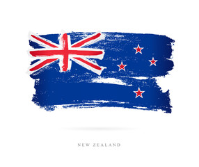 Flag of New Zealand. Concept