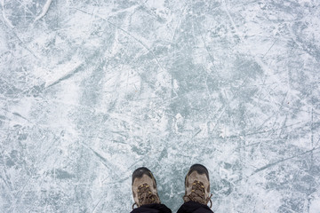 Ice rink surface