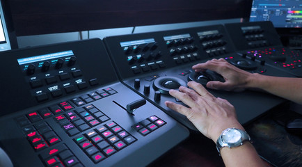 Telecine controller machine and hand editing.