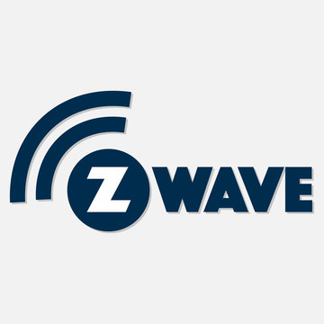 Z-Wave wireless communication design logo with shadow on white background. Vector illustration IoT home automation design.