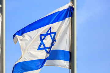 Blue and white flag of Israel