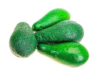 Four ripe avocado