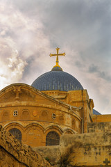 Top of Church of the Holy Sepulchre in Jerusalem