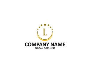 l letter circle star logo