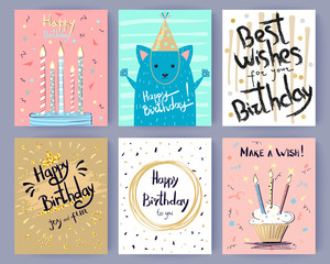 Happy Birthday Collection of Creative Postcards