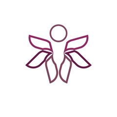 Human flight - vector logo template