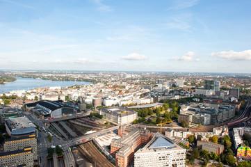 Luftbild Hamburg Außenalster