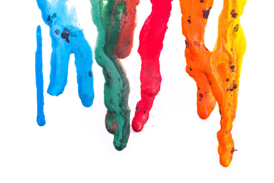crayons melted art