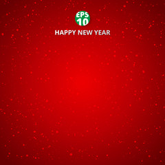 Happy new year and merry christmas on red blurry vector background with snowflake.