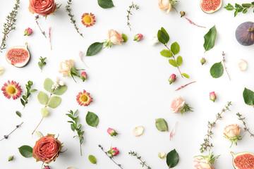 Poster Bloemen pink flowers and petals
