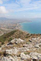 On a Mountain Socol (Sokol) (Falcon) peak overlooking the Black sea, Crimea.