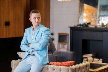 man in a luxurious apartments