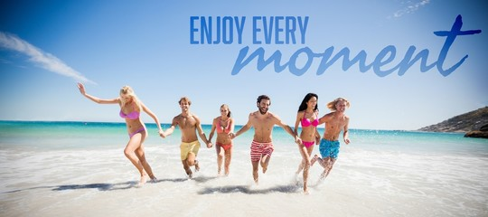Composite image of enjoy every moment