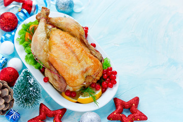 Roast chicken for Christmas and New Year dinner
