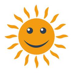 Sun icon on white background.
