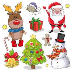 Set of Cute Christmas design elements