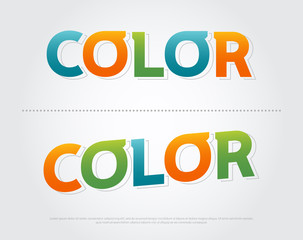 color colorful logo. color typography design with colorful Use as photo overlay, place to card, poster, prints. vector illustration
