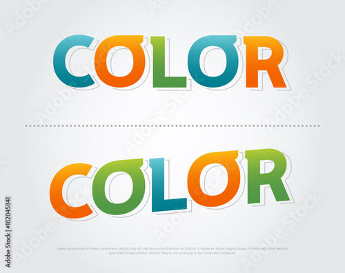 color colorful logo  color typography design with colorful Use as