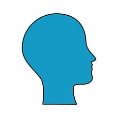 human profile isolated icon vector illustration design