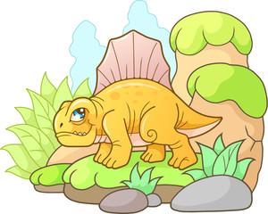 cute Dimetrodon, funny image