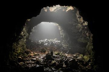 Raufarhólshellir lava tube, South Iceland