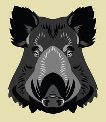 Portrait of a wild boar