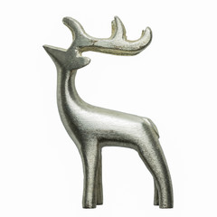 reindeer toy isolated on white background for your christmas design